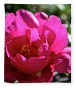 Simple Rose Fleece Blanket