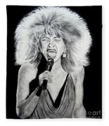 Singer And Actress Tina Turner  Fleece Blanket