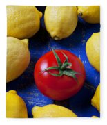 Single Tomato With Lemons Fleece Blanket