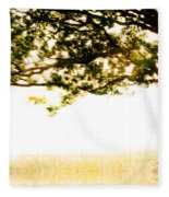 Single Tree In Motion Fleece Blanket
