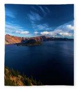 Sinott Crater Lake View Fleece Blanket