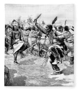 Sioux Ghost Dance, 1890 Fleece Blanket