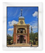 Sir John Bennett Clock Shop Fleece Blanket