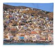 Siros Greece 2  Fleece Blanket