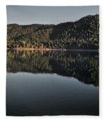 Siskiyou Lake Panorama Fleece Blanket