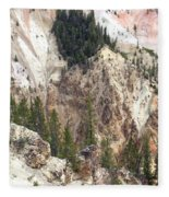 Sit For A Spell At Grand Canyon In Yellowstone Fleece Blanket