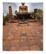 Sitting Buddha Fleece Blanket