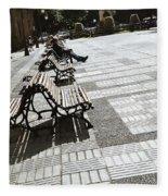 Sitting In The Park - Madrid Fleece Blanket