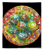 Six  Colorful  Eggs  On  A  Circle Fleece Blanket