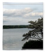 Skaneateles Lake In Ny Finger Lakes Water Color Effect Fleece Blanket