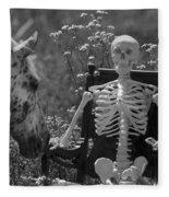Skeleton In My Closet Fleece Blanket