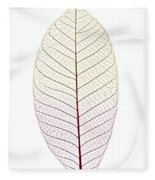 Skeleton Leaf Fleece Blanket