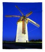 Skerries Windmill, Co Dublin, Ireland Fleece Blanket