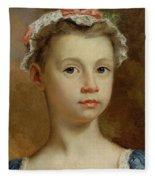Sketch Of A Young Girl Fleece Blanket
