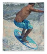 Skimboardin' In Dewey Fleece Blanket