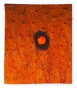 Skin Of Eastern Newt Fleece Blanket