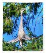 Puget Sound Great Blue Heron Skirt Wings Fleece Blanket