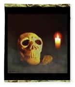 Skull And Candle Fleece Blanket