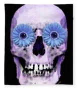 Skull Art - Day Of The Dead 3 Fleece Blanket