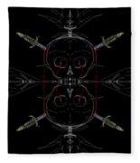 Skulls And Daggers Fleece Blanket