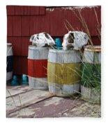 Skulls On Barrels Fleece Blanket