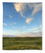 Sky At Sunset, Grasslands National Fleece Blanket