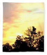 Sky Of Fire Fleece Blanket