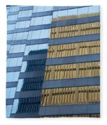 Sky Scraper Tall Building Abstract With Windows And Reflections No.0102 Fleece Blanket