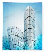 Skyscrapers In The City Fleece Blanket