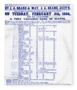 Slave Auction Notice Fleece Blanket