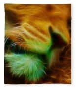Sleeping Lion 2 Fleece Blanket