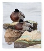 Sleeping Mallards Fleece Blanket