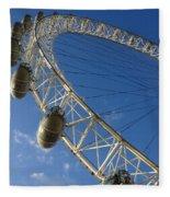 Slice Of The Wheel Of London Eye From An Angle Fleece Blanket