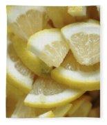 Slices Of Lemon Fleece Blanket