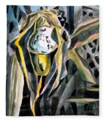 Slipper Foot Gold Fleece Blanket