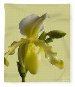 Slipper Orchid Fleece Blanket