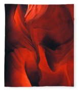 Slot Canyon Abstract Fleece Blanket