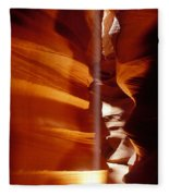 Slot Canyon Shaft Of Light Fleece Blanket