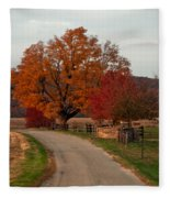 Small Country Road Fleece Blanket