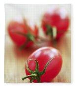 Small Tomatoes Fleece Blanket