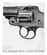 Smith & Wesson Revolver Fleece Blanket