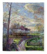 Smoke Drift - Autumn Fleece Blanket