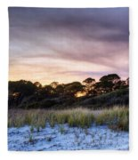 Smoke In The Beach Air Fleece Blanket