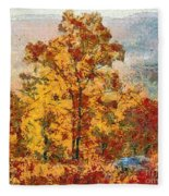 Smoke Tree In The Karst Fleece Blanket