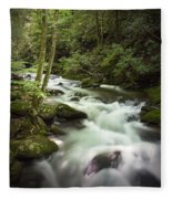 Smokey Mountain Stream No.312 Fleece Blanket