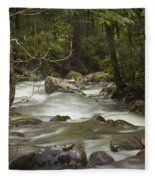 Smokey Mountain Stream No.326 Fleece Blanket