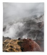 Smoking Fields Fleece Blanket