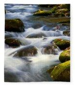Smoky Mtn Stream Fleece Blanket