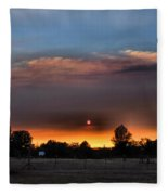 Smoky Sunset Wide Angle 08 27 12 Fleece Blanket
