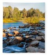 Smooth Rapids Fleece Blanket